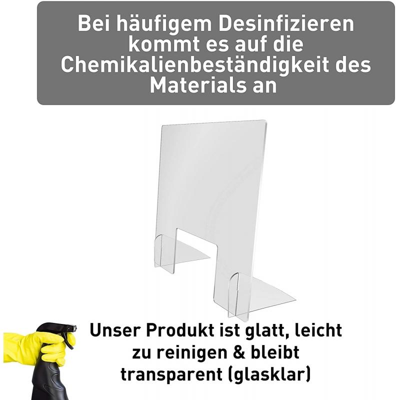 Spuckschutz Highfeet (PETG 3mm)