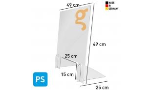 Spuckschutz Kompakt (Polystyrol 3mm)