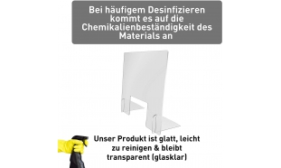 Spuckschutz Hoch (Polystyrol 3mm)